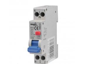 Chránič s nadproudovou ochranou 1P B 16A 30mA
