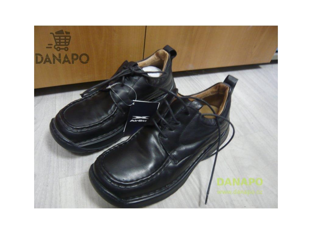 db6e6a18e Pánské kožené boty polobotky Air Step vel. 41 - DANAPO - David Černý