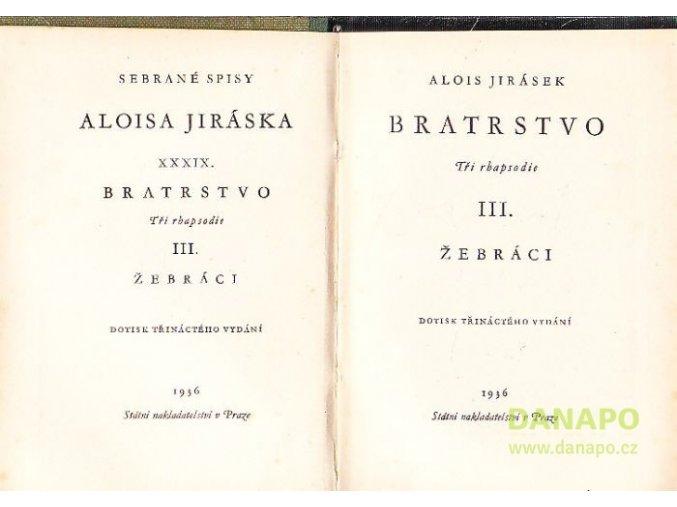28288 alois jirasek bratrstvo tri rapsodie i bitva u lucence ii maria iii zebraci