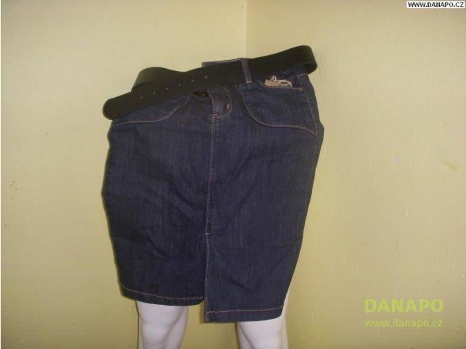 29584 damska jeans sukne modra s