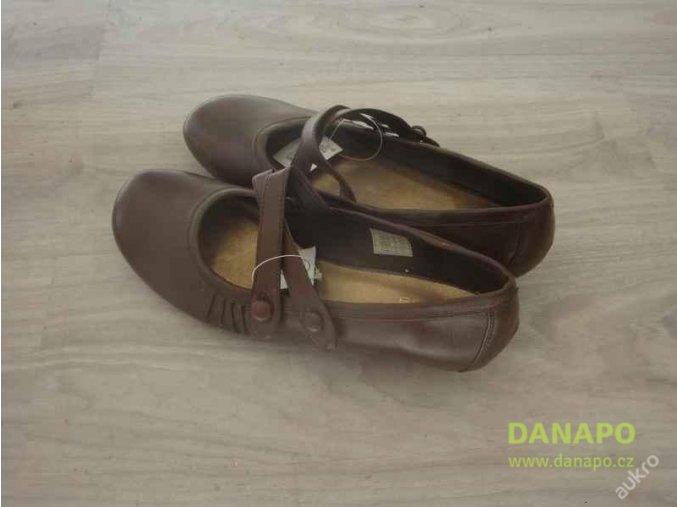 29662 damske boty na podpatku hnede
