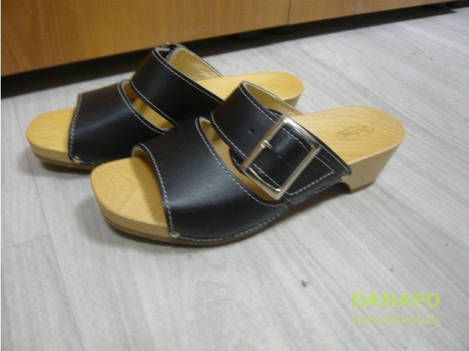 29701 damske drevaky pantofle scholl england 36 cerne