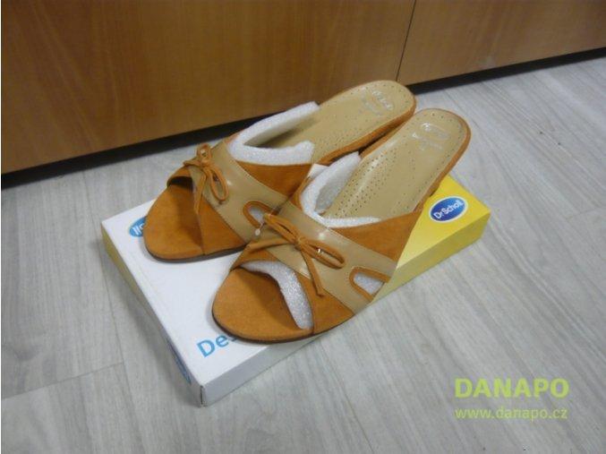 29707 damske drevaky pantofle scholl nadia oranzove