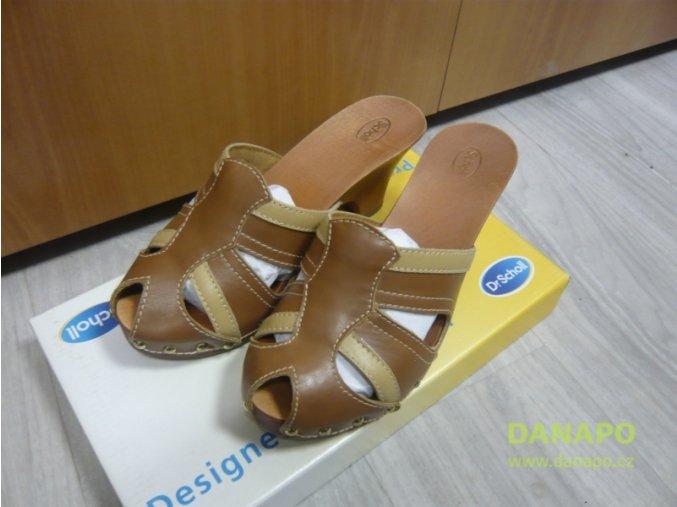 29713 damske drevaky pantofle scholl sansation 36 hnede