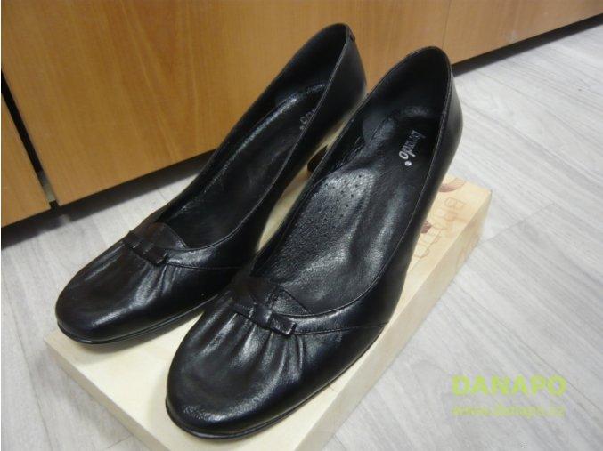 29773 damske kozene lodicky obuv brado cerne 41