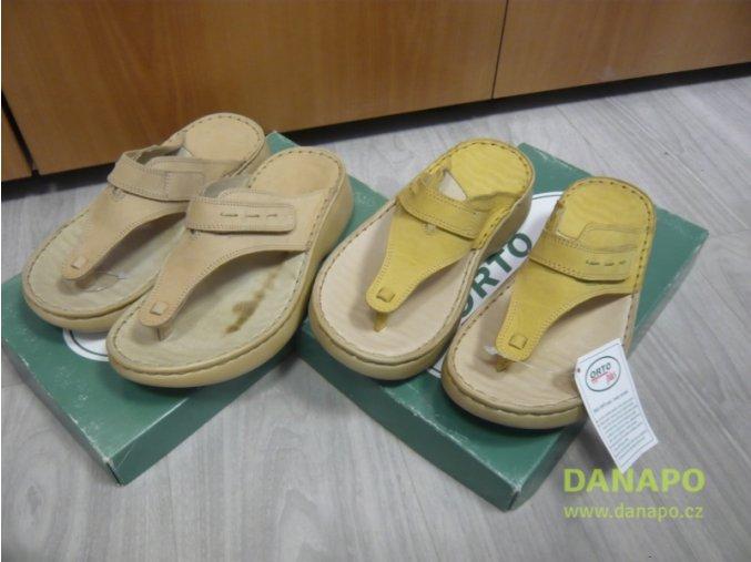 29794 damske kozene pantofle nazouvaky orto 2081