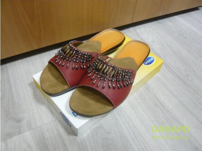 30133 damske sandale pantofle scholl charleston 41 cervene