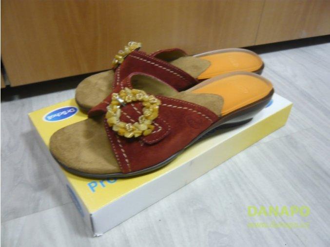 30136 damske sandale pantofle scholl madras 39 cervene