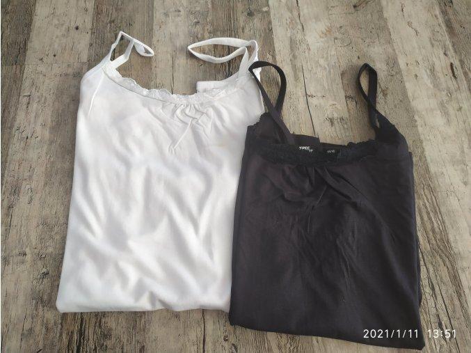 Dámský tílko top 2 kusy v balení  bílý, černý