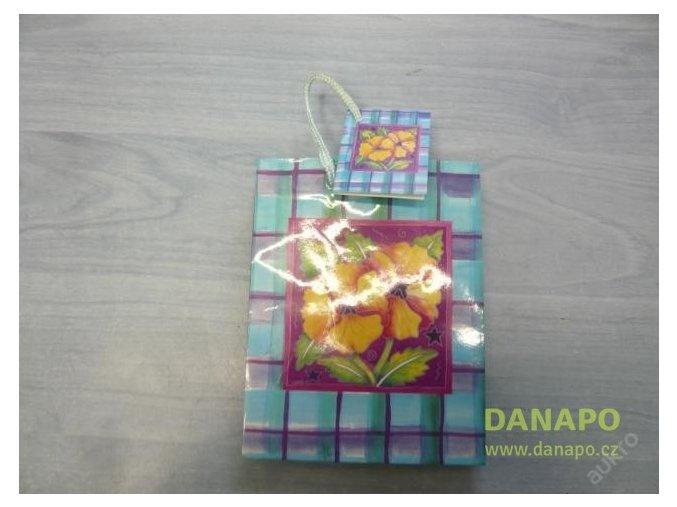 30388 darkova taska modro fialova s kvetinou