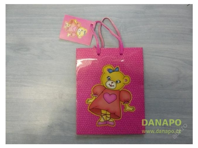 30400 darkova taska ruzova s medvidkem