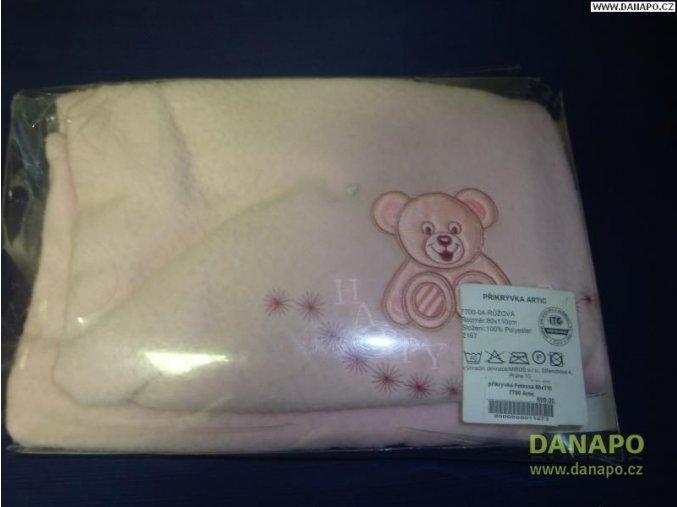 30517 1 deka ruzova medvidek 1100x800 mm