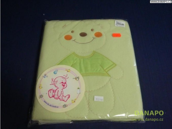 30574 deka zelena medvidek 900x800 mm
