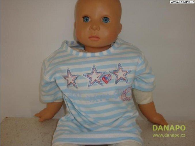31087 1 detske tricko kratky rukav modrobile vel 74