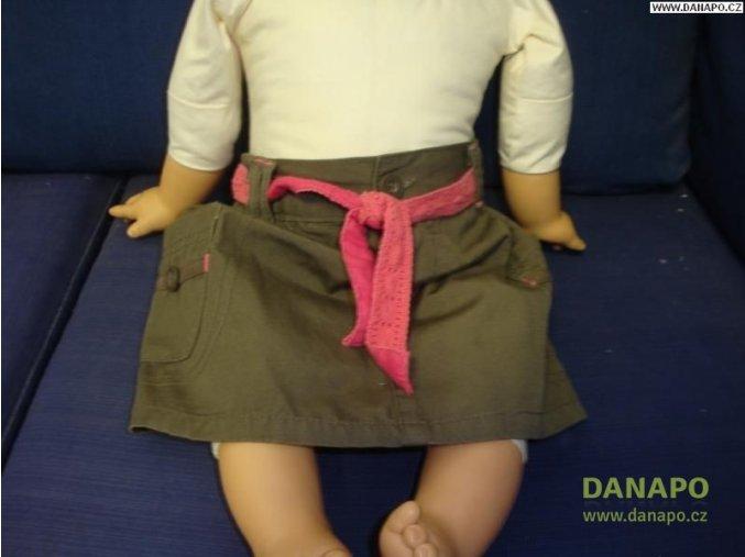 31963 hneda sukne s ruzovym paskem