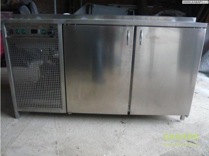 32110 chlazeny vydejni pult se skrini nerez gastro