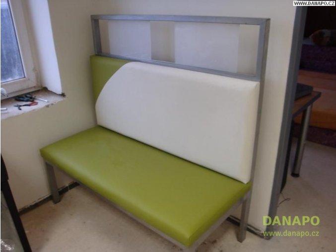 32215 jednostranna calounena lavice pevna ram 120cm