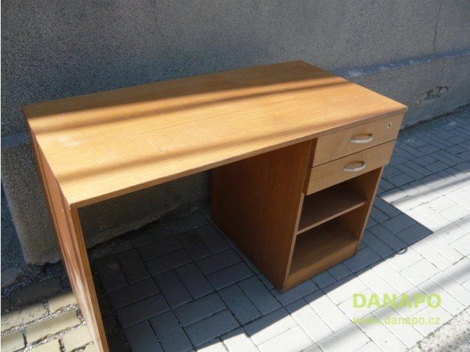 32512 kancelarsky nabytek dreveny masivni stul hnedy
