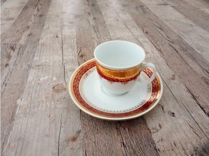 Porcelánový šálek hrnek s podšálkem