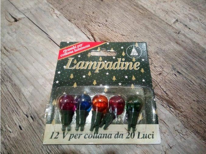Vánoční žárovky náhradní perly 12V barevné