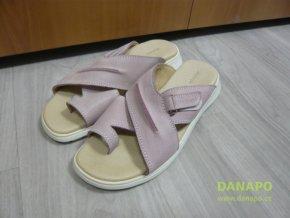 Dámské kožené pantofle nazouváky Milena