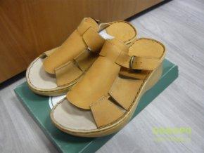 29797 damske kozene pantofle nazouvaky orto 3056 n