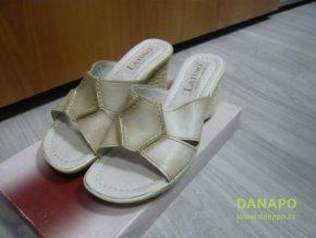 Dámské kožené pantofle nazouváky Pölking Latino