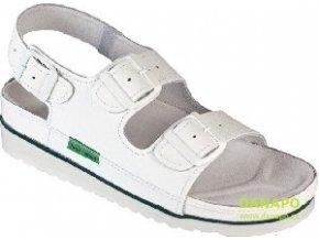 Dámské pracovní kožené sandály bílé 1004 CKLH 37
