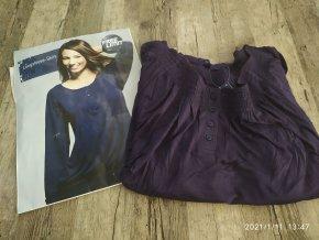 Dámské triko dlouhý rukáv modré Carla