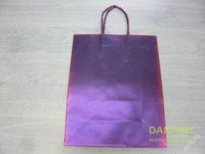 Dárková taška - Fialovo červená