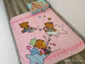 Dětská deka Fetexsa Baby - Golden 718 1400x1100mm
