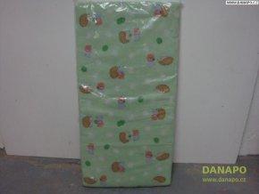 30796 4 detska matrace do postylky zelena motiv jezecci