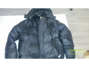 30853 detska zimni bunda s kozesinou a kapuci