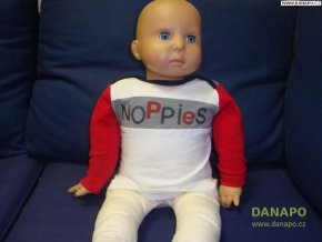 Dětské Tričko dlouhý rukáv Noppies Bílošedočervené