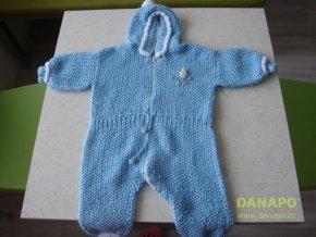 31129 detske zbozi pleteny modry overal s kapuci