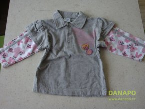Dětské zboží - Tričko Dirkje  74 šedorůžové