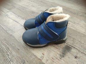 Dětské zimní boty s kožíškem modré PK-REGA vel. 20