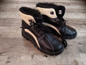 Dětské zimní boty černo - béžové PK-REGA vel. 29
