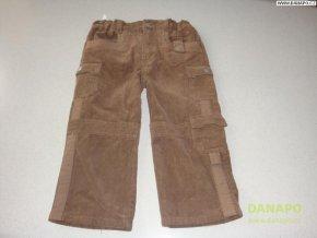 Hnědé kalhoty manšestráky Dirkje