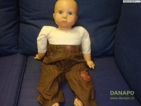 31972 hnede kalhoty s ruzovou aplikaci