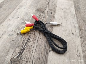 32272 kabel 3x cinch 3x cinch kompozit zluty cervena bily