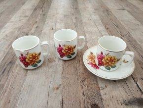 Keramický šálek s podšálkem Ditmar Urbach květiny