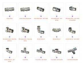Lisovací tvarovky fitinky IVAR CS Press
