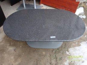 33550 konferencni stul stolek z liteho mramoru oval
