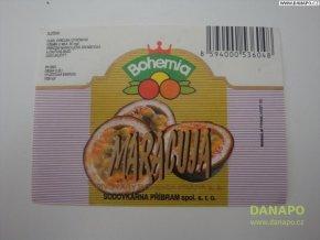 Limo etiketa - Bohemia - Maracuja - sodovk.Příbram