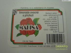 Limo etiketa - Malina - sodovkárna Uh.Hradiště