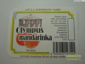 Limo etiketa -Olympus mandarinka - sod.Uh.Hradiště
