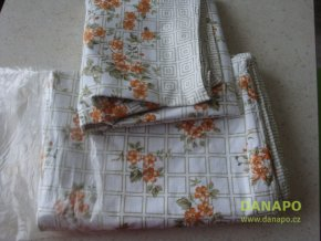 34060 2 lozni povleceni na jednu postel motiv kvetiny