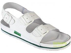 Nadměrné pracovní kožené sandály bílé 1004 CEH