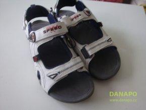 35698 panske sandaly boty obuv double speed bile v 40